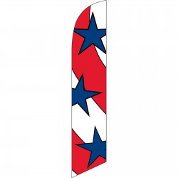 Stars (3) & Stripes Windless Swooper Flag
