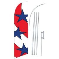 Stars - Stripes Windless Swooper Flag Bundle