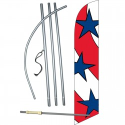 Stars - Stripes Windless Swooper Flag Bundle