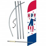 Happy 4th Windless Swooper Flag Bundle