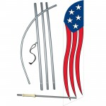 Stars - Stripes Vertical Windless Swooper Flag Bundle