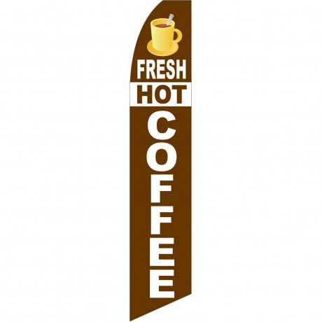 Fresh Hot Coffee Swooper Flag