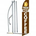 Fresh Hot Coffee Swooper Flag Bundle