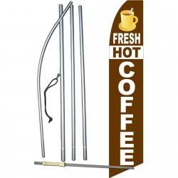 Fresh Hot Coffee Swooper Flag Bundle