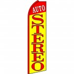 Auto Stereo Red Yellow Extra Wide Swooper Flag
