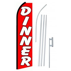 Dinner Extra Wide Swooper Flag Bundle