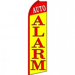Auto Alarm Yellow Extra Wide Swooper Flag