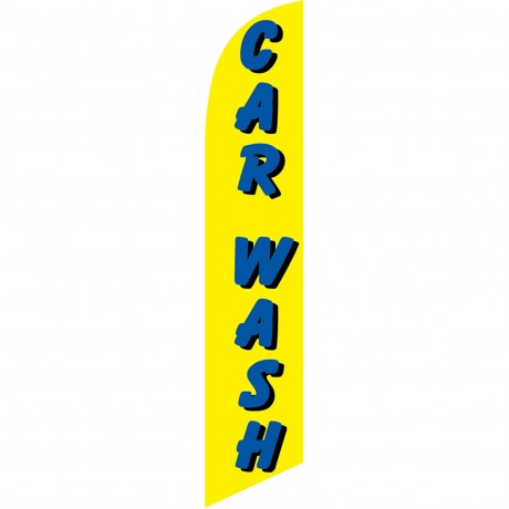 Car Wash Yellow Windless Swooper Flag