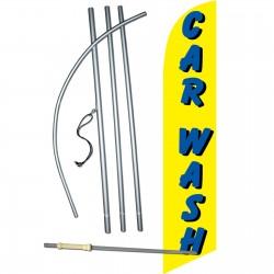 Car Wash Yellow Windless Swooper Flag Bundle