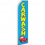 Car Wash Blue Yellow Swooper Flag