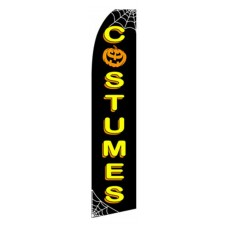 Costumes Halloween Black/Yellow Swooper Flag