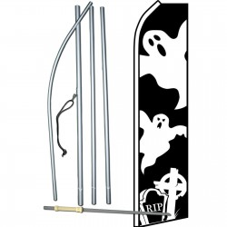 Halloween Ghost Grave Swooper Flag Bundle