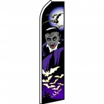 Halloween Vampire Purple Swooper Flag