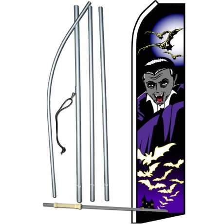 Halloween Vampire Purple Swooper Flag Bundle