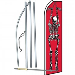 Halloween Skeleton Red Swooper Flag Bundle