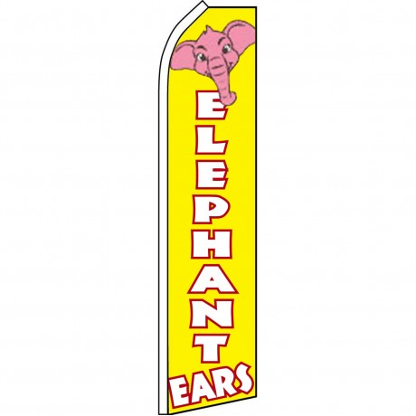 Elephant Ears Yellow Swooper Flag