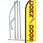 Corn Dogs Yellow Swooper Flag Bundle
