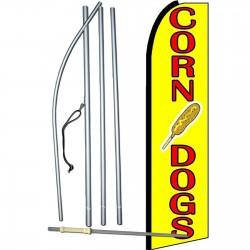 Corn Dogs Yellow Swooper Flag Bundle