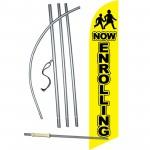 Now Enrolling Yellow Windless Swooper Flag Bundle