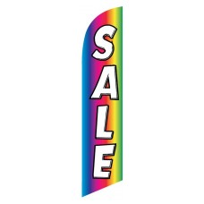 Sale Rainbow White Windless Swooper Flag