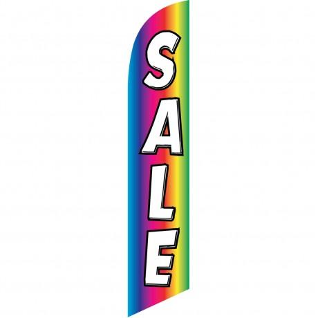 Sale Rainbow White Windless Swooper Flag