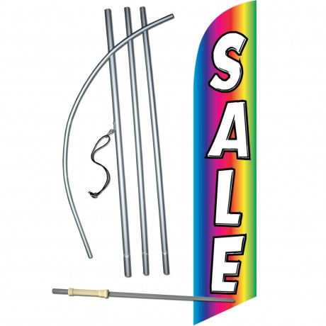 Sale Rainbow Windless Swooper Flag Bundle