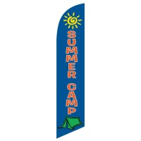Summer Camp Blue Orange Windless Swooper Flag