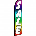 Sale Rainbow White Extra Wide Swooper Flag