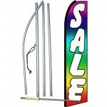 Sale Multi Color Extra Wide Swooper Flag Bundle