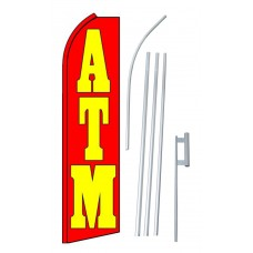 ATM Red Swooper Flag Bundle