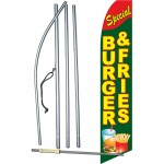 Burger & Fries Special Extra Wide Swooper Flag Bundle