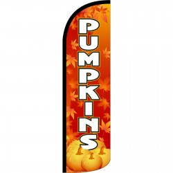 Pumpkins Extra Wide Windless Swooper Flag