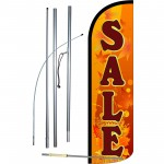 Sale Fall Theme Extra Wide Windless Swooper Flag Bundle