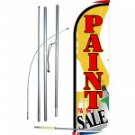 Paint Sale Extra Wide Windless Swooper Flag Bundle