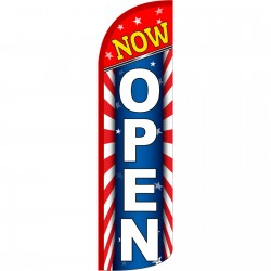 Now Open USA Extra Wide Windless Swooper Flag