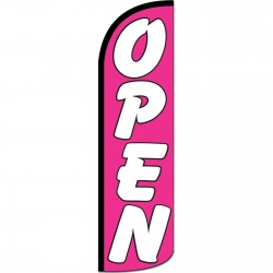 Open Pink Extra Wide Windless Swooper Flag