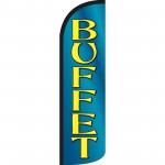 Buffet Extra Wide Windless Swooper Flag