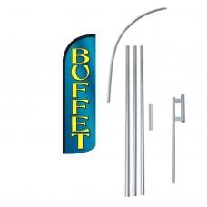 Buffet Extra Wide Windless Swooper Flag Bundle