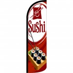 Sushi Red Extra Wide Windless Swooper Flag