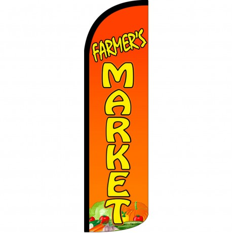 Farmers Market Extra Wide Windless Swooper Flag