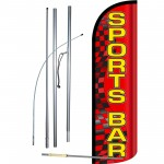 Sports Bar Extra Wide Windless Swooper Flag Bundle