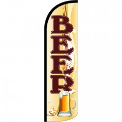 Beer Mug Extra Wide Windless Swooper Flag