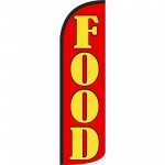 Food Red Extra Wide Windless Swooper Flag