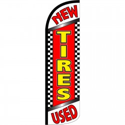 Tires New Used Extra Wide Windless Swooper Flag