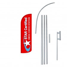Star Certified Smog Extra Wide Windless Swooper Flag Bundle