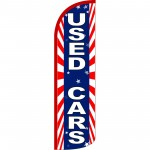 Used Cars Patriotic Extra Wide Windless Swooper Flag
