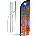 Seasons Greetings Extra Wide Windless Swooper Flag Bundle