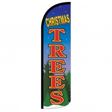 Christmas Trees Extra Wide Windless Swooper Flag