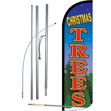 Christmas Trees Extra Wide Windless Swooper Flag Bundle