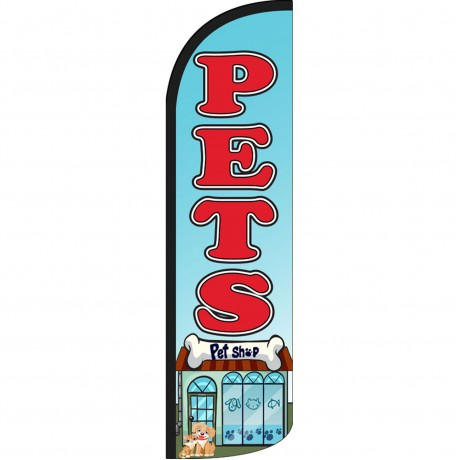 Pets Pet Shop Extra Wide Windless Swooper Flag